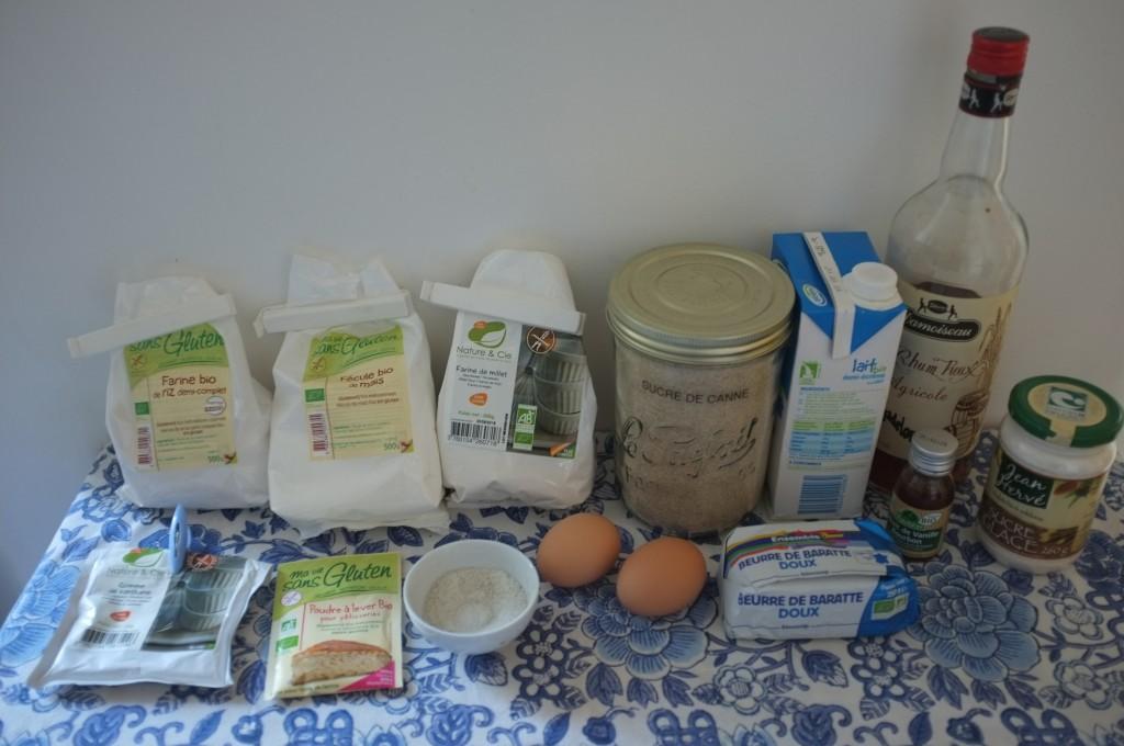 Les ingrédients sans gluten pour les Merveilles de Mardi Gras. Attention, je n'ai pas finalement pas utilisé de lait.