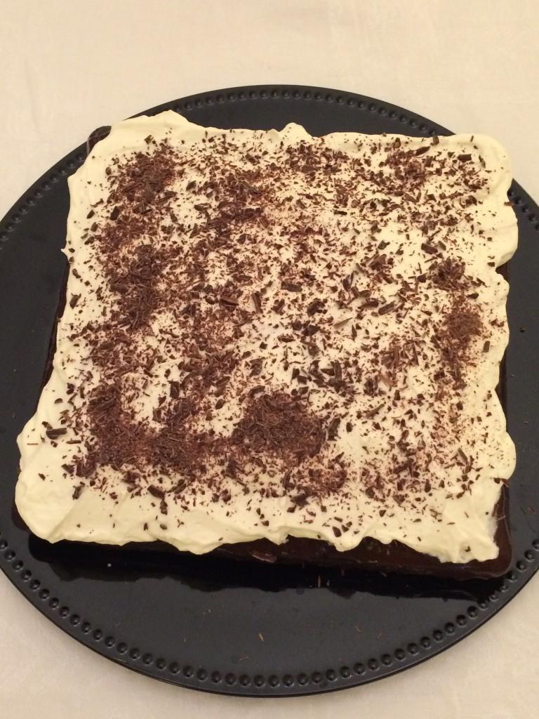 le gâteau sans gluten chocolat café pour Damien