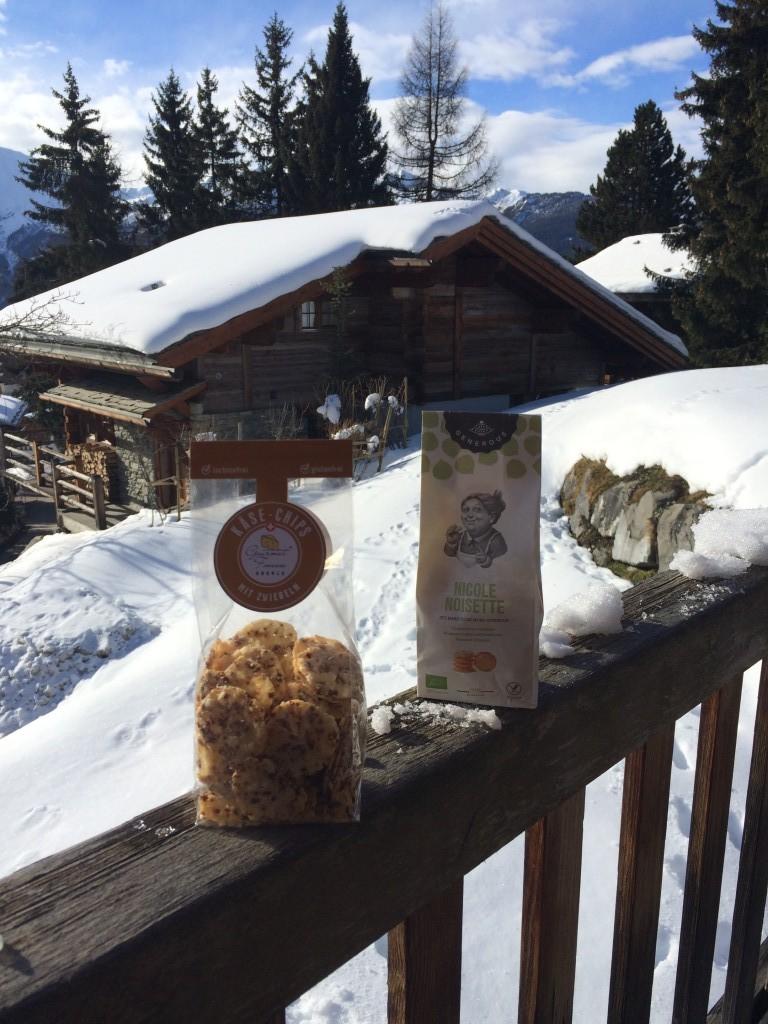 Les biscuits Nicole noisette offert par mon amie Laila en cadeau de bienvenue à Verbier.