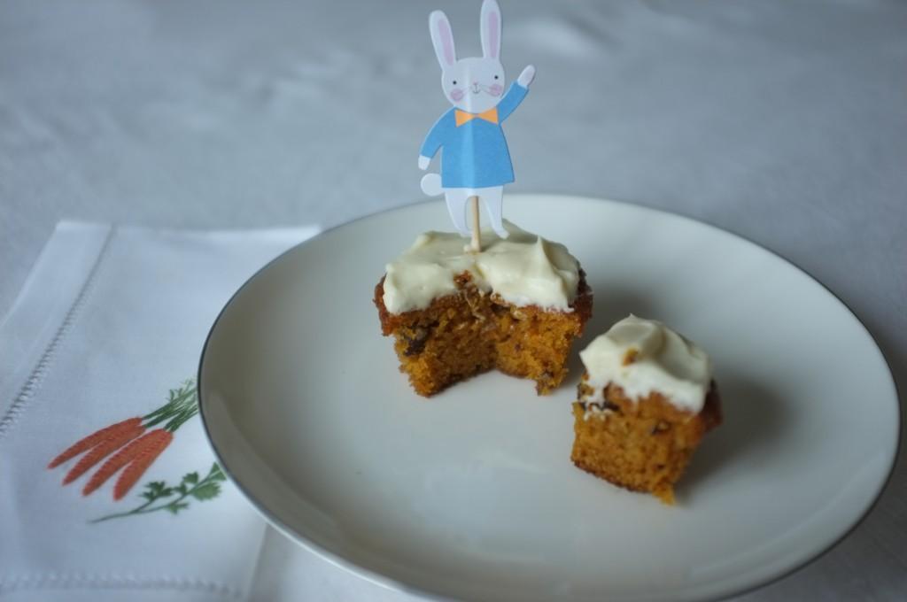 Le cupcake sans gluten à la carotte pour célébrer Pâques
