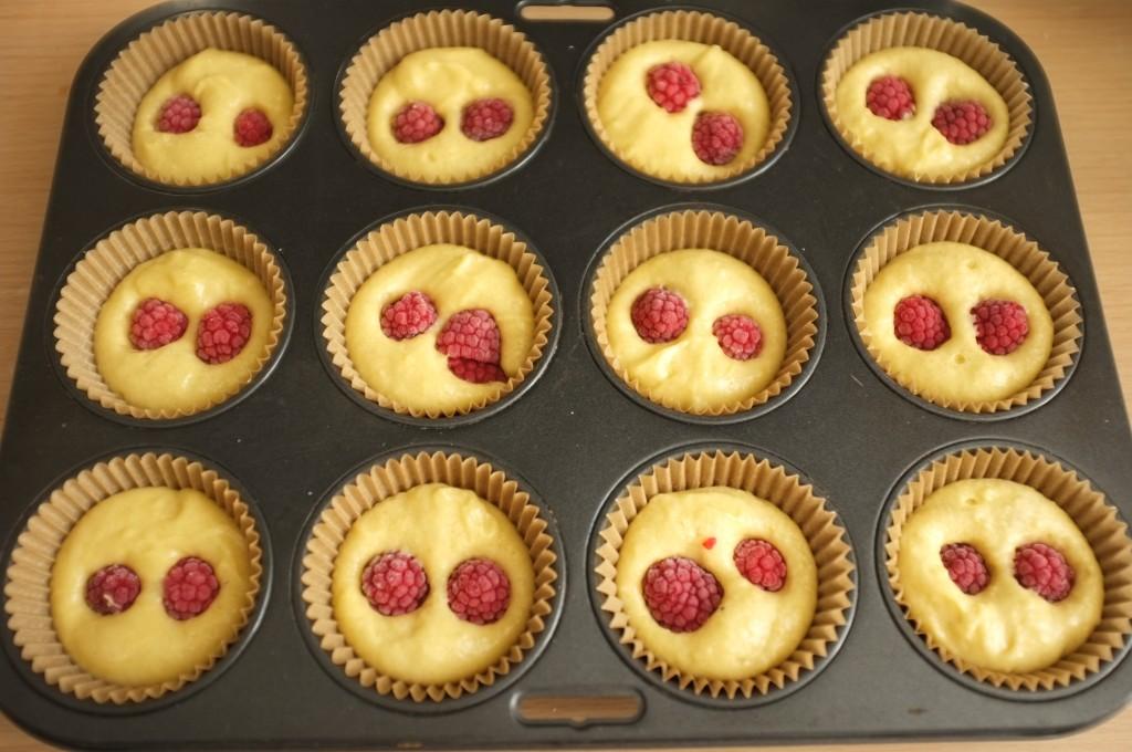 Les muffins sans gluten avant d'être enfournés