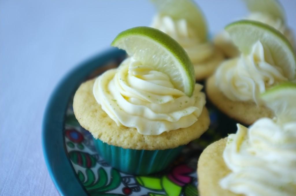 Les cupcake sans gluten au citron vert