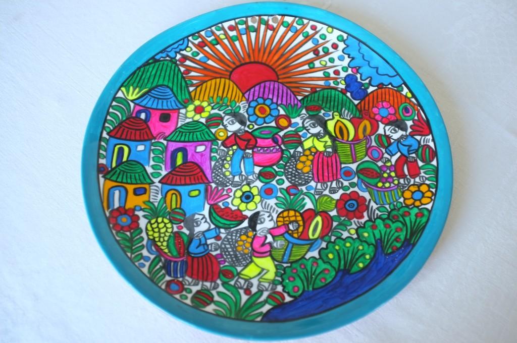 La belle assiette mexicaine offerte par mon amie Delphine lundi 4 Mai, juste à temps pour célébrer Cinco de Mayo !