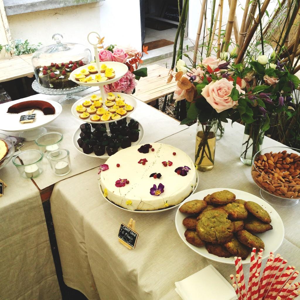 Le buffet digne d'un jardin de fées...