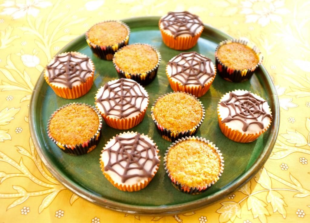 Les muffins sans gluten orange carotte pour Halloween 2015