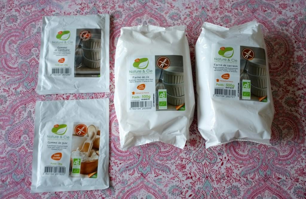 Les farines certifiées sans gluten et Bio de Nature &Cie... vous les reconnaissez certainement des photos de mes recettes !