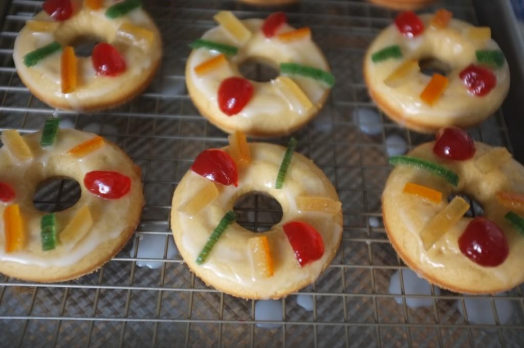 Les donuts des Rois sans gluten en préparation...