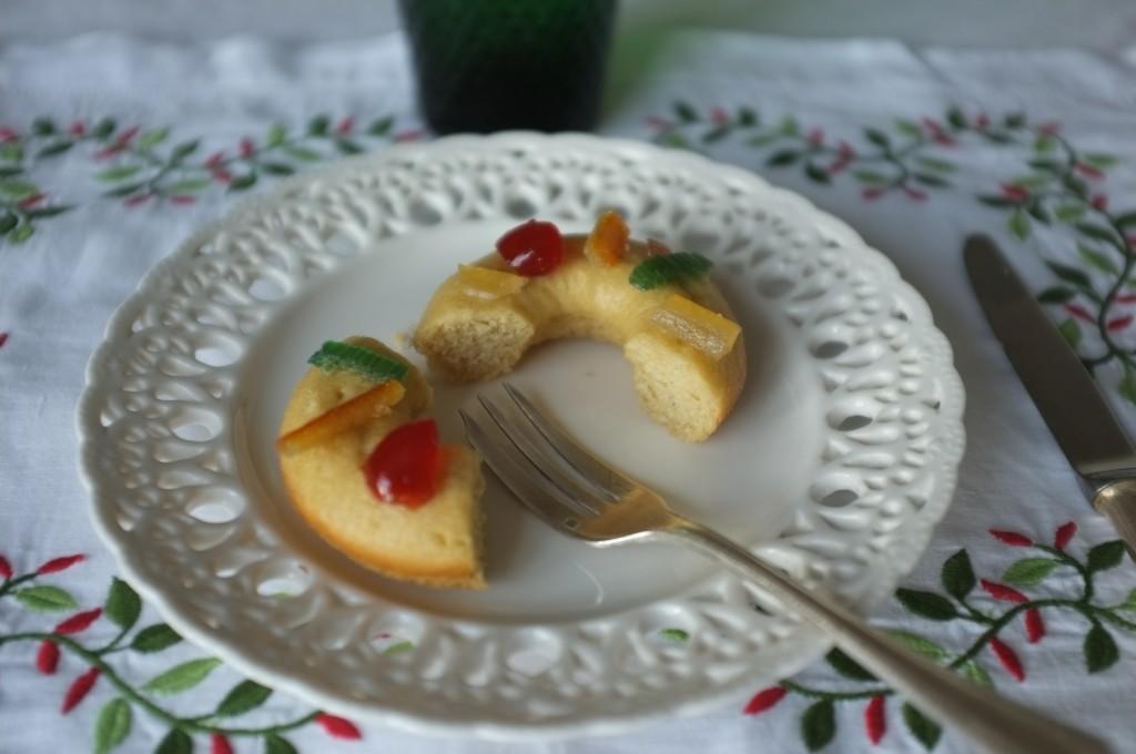 Le donuts, très tendre et parfumé à la fleur d'oranger.