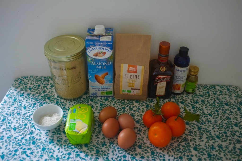 les ingrédients sans gluten pour préparer la mélassinne à la clémentine de Charlotte.