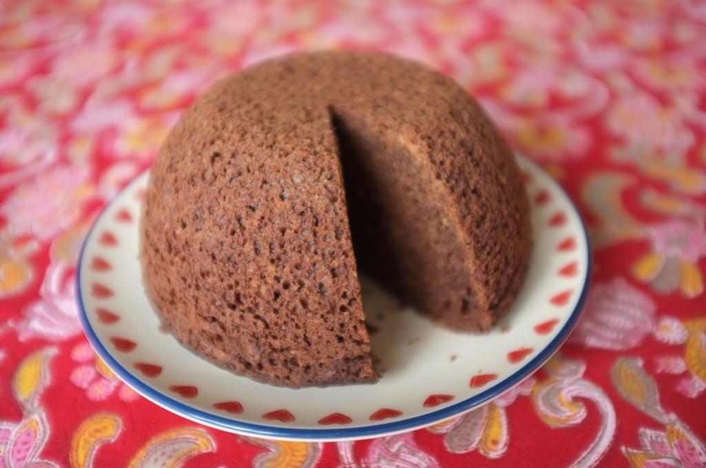 Le pouding sans gluten au chocolat épicé est extrêment moelleux.