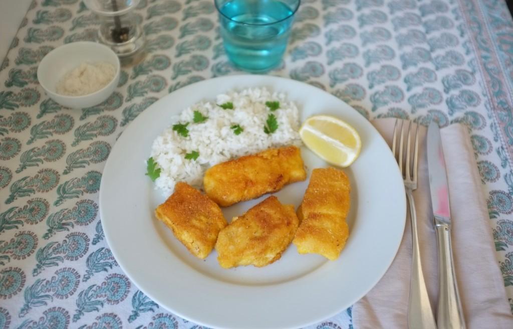 """Les poissons panés sans gluten avec la chapelure """"Mon fournil"""""""