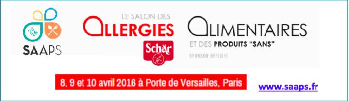 Le logo du Salon des Allergies et des Produits Sans