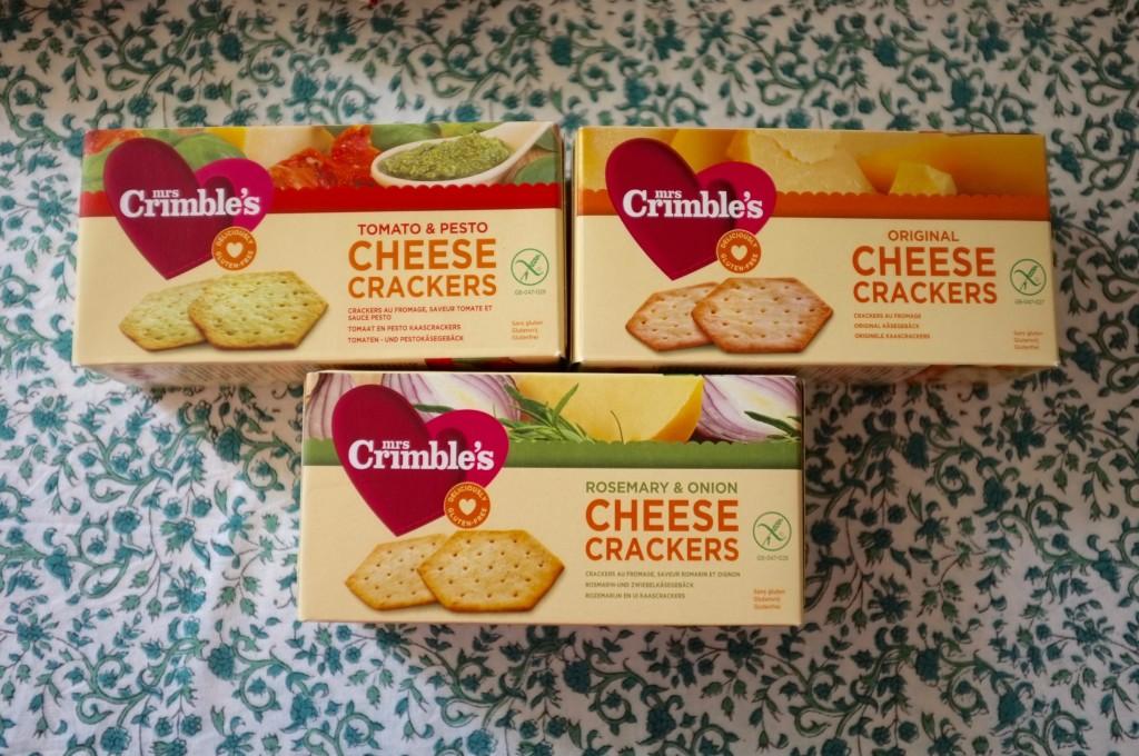 Les crackers  de Mrs Crimble's au différents parfums.