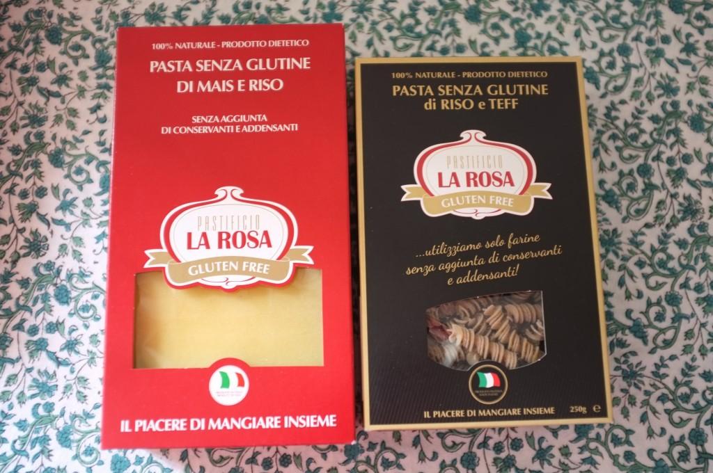 Les pâtes Italien de La Rosa, des feuilles de lasagnes et des pâte à la farine de teff.