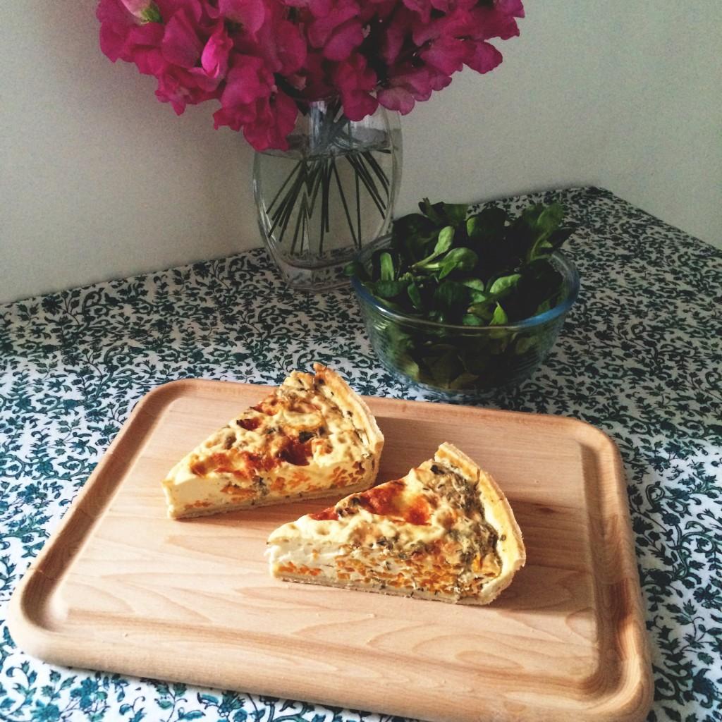Les quiches de l'Atelier des Lilas que je rapportais en take-away pour le diner...