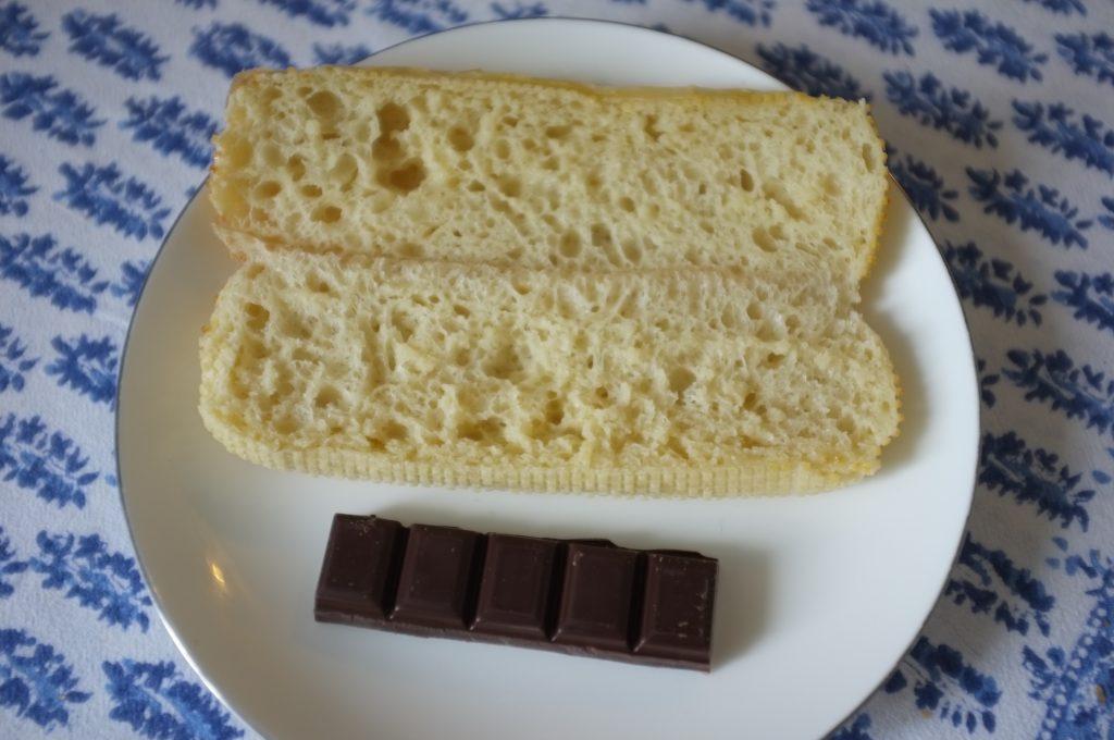...pour y glisser une barre de chocolat