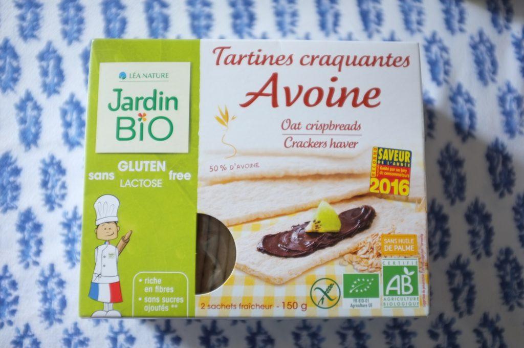 Les tartine croquantes à l'avoine certifié sans gluten de Jardin Bio