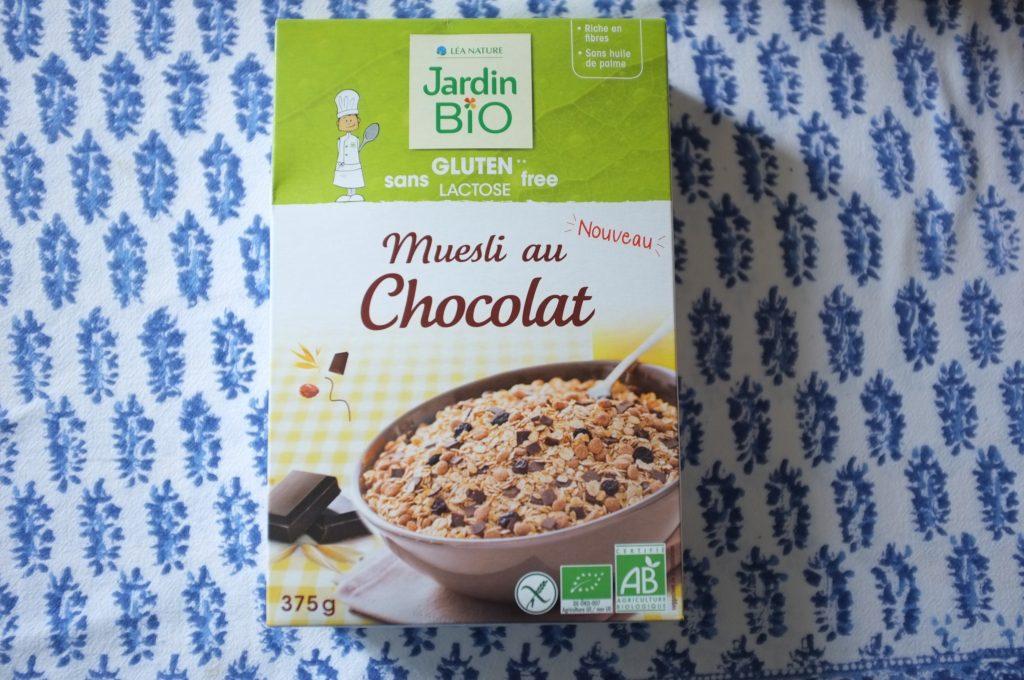 Le muesli chocolat de Jardin Bio.