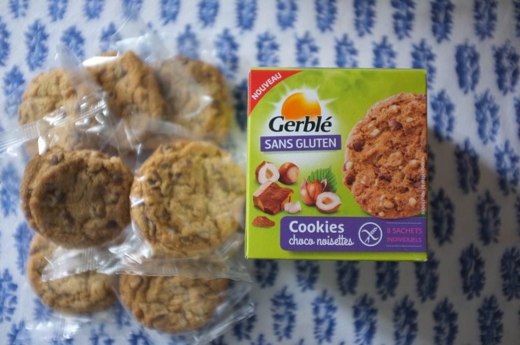 Les cookies de Gerblé Sans Gluten choco noisette sont délicieux et j'apprécie l'amballage individuel.