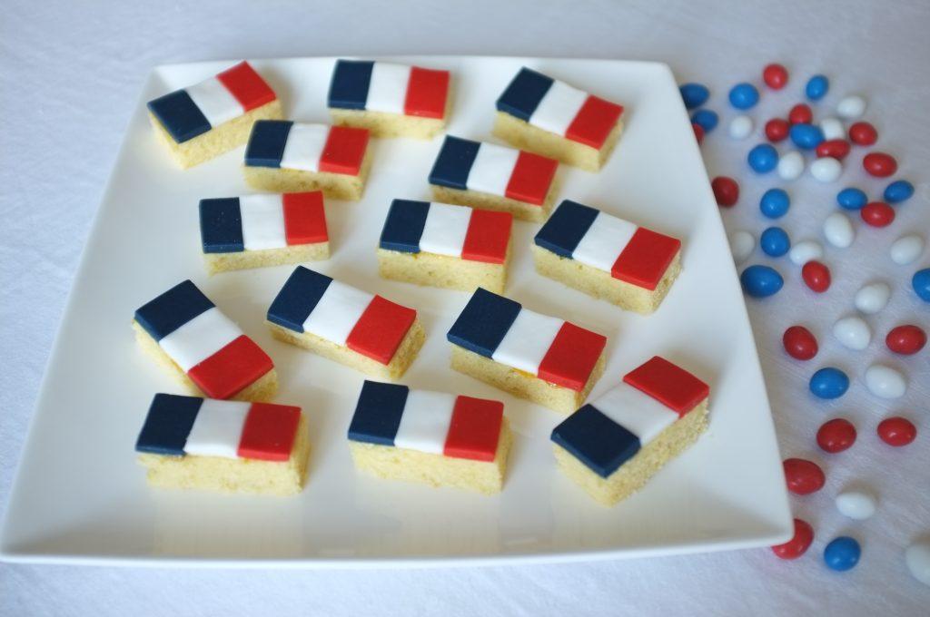 Les petits gâteaux aux couleurs de la France pour soutenir dimanche l'équipe de France au match de foot ou célébrer le 14 Juillet