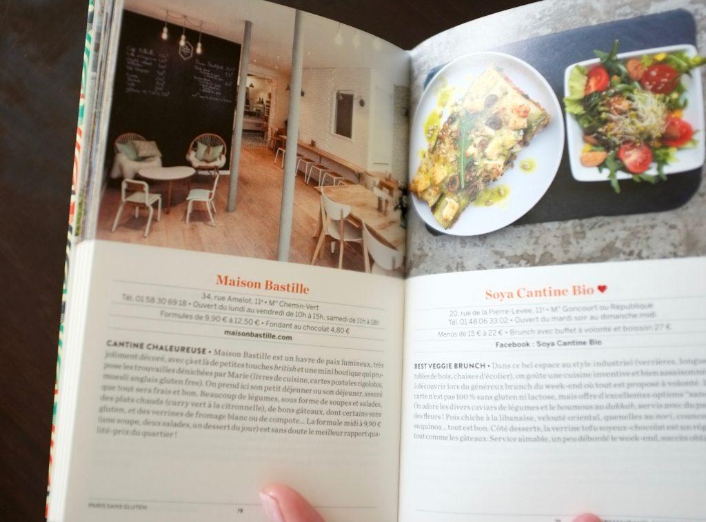"""Le livre """" Paris sans gluten"""" de Soraya Aouidad est plein de photo et d'anecdotes."""