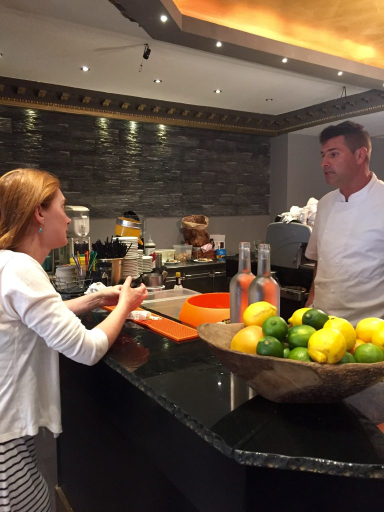 Discussion avec Stéphane, le chef de chez Gigi, un véritable passionné...
