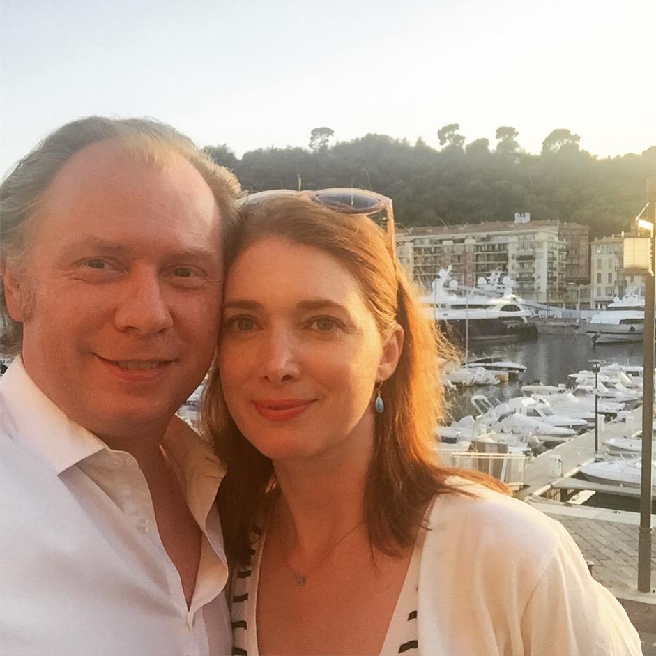 petit selfie avec mon mari sur le ieux port...