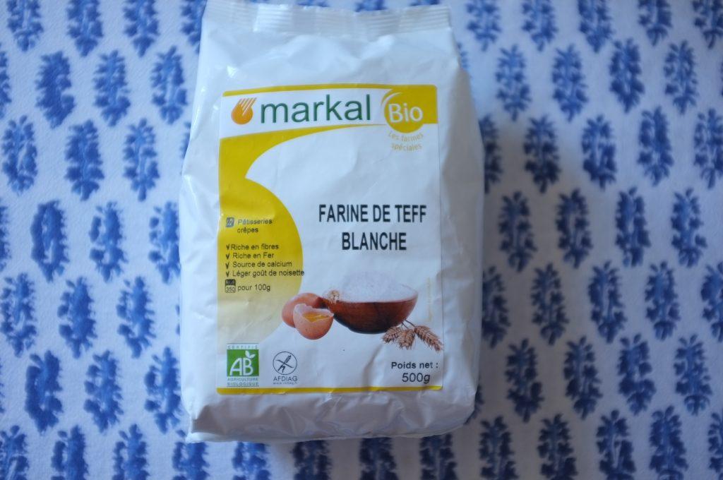 J'ai utilisé cette farine de teff blanc, car elle est certifié sans traces de gluten.