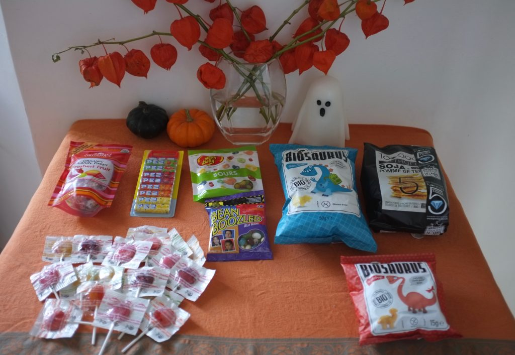 Mes bonbons et chips pour célébrer un Halloween sans gluten