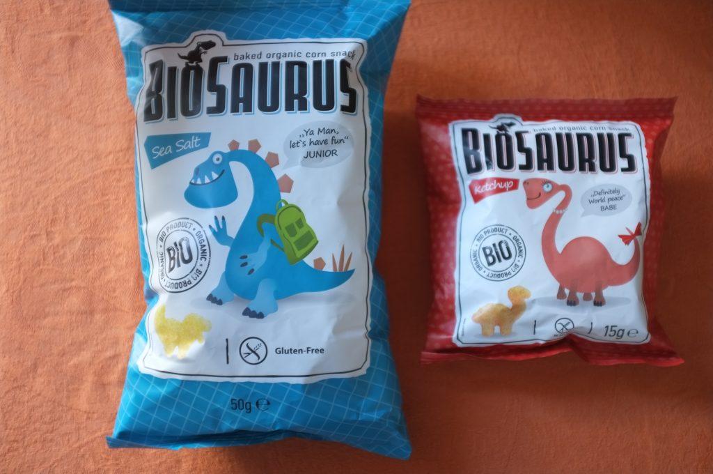 Les chips BioSaurus en forme de dinosaure, parfait pour ceux qui préfère le salé au sucré
