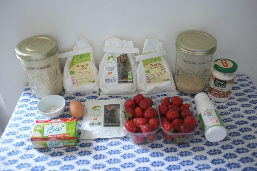 Les ingrédients sans gluten pour cuisiner les tartellettes aux fraises