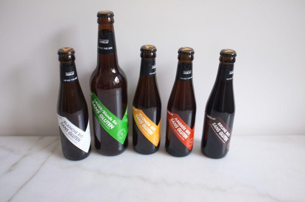 bières sans gluten brasserie de Vezelay